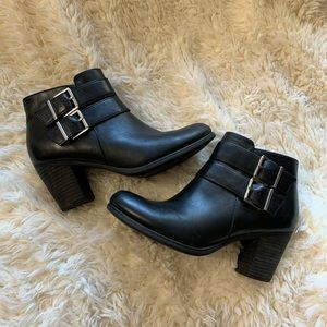 Clarks Artisan Buckle Ankle Booties